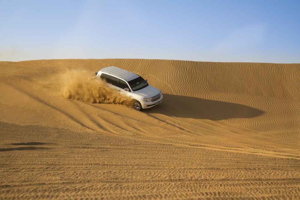 4X4 dune bashing in the desert