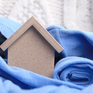 model house near sweater