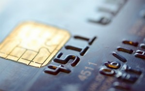 Corner of credit card