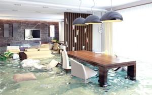 Luxury apartment flooded
