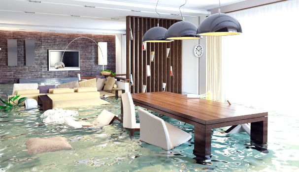 Luxury apartment flooded
