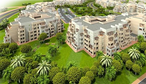 Al Khail Heights artist's illustration of apartment blocks