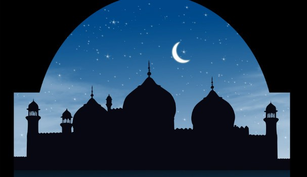 Mosque and moon