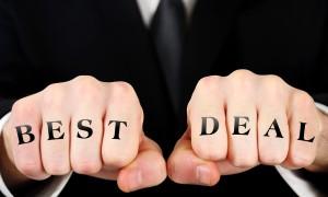man with best deal written