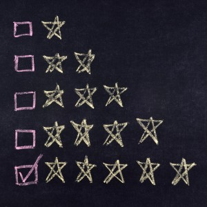 Customer reviews on blackboard - 1 - 5 stars