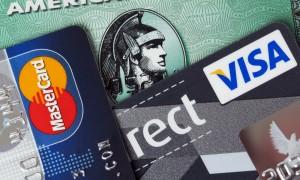 Credit cards - American Express, Mastercard, Visa