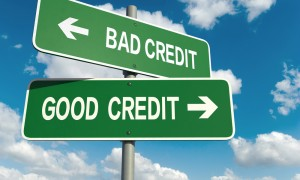 Credit rating, credit score - good credit, bad credit signposts