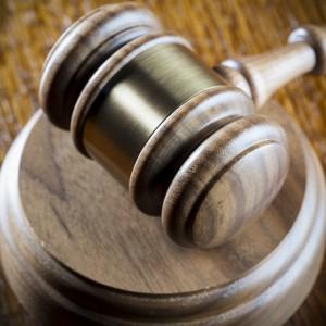 Law court gavel