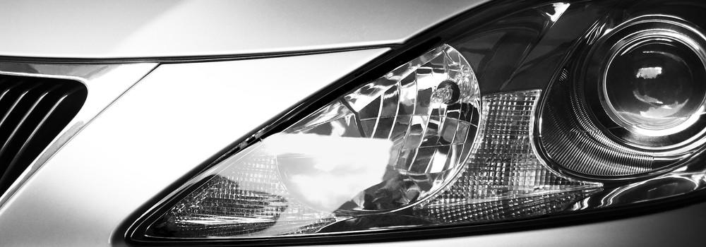 Car bonnet and light