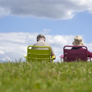 Senior couple relaxing in the park