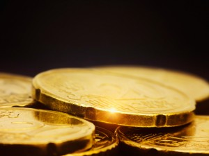 shining gold coins