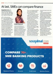 Khaleej Times SME Souqalmal.com editorial