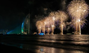 fireworks at burj al arab