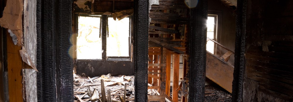 Room gutted by fire