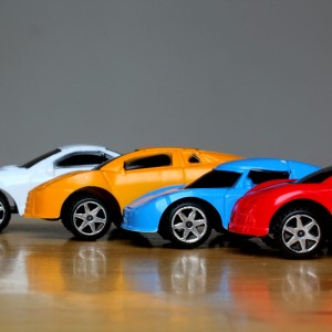 Different colored cars