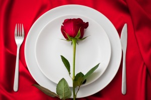 flower on a plate