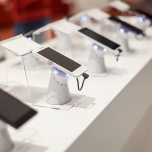 New mobile phones in showroom