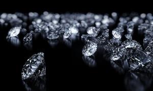 Diamonds on a black backgorund