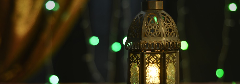 eid al adha lantern and decoration lights