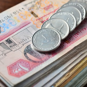 dirham notes and coins