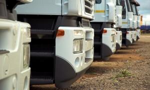 A fleet of trucks
