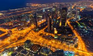 Dubai at night, UAE.