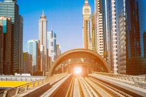 Metro line in Dubai