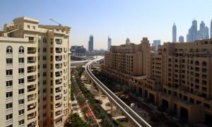 panoramic views of downtown of dubai city