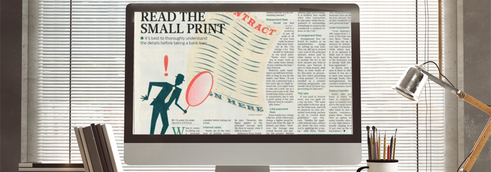 Gulf News: Read the small print - The Money Doctor