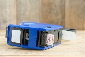 Blue plastic price label machine