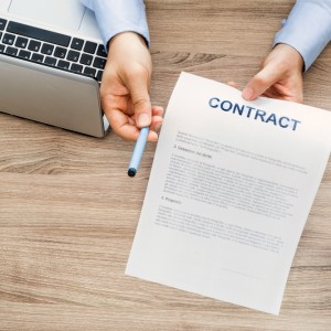 signature of the employment contract
