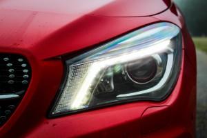 Headlight on modern car