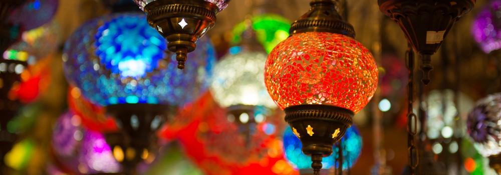Traditional turkish lamp light