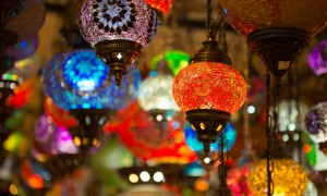 Traditional turkish lamp light