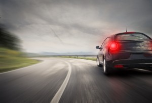 sportive sport car on the road