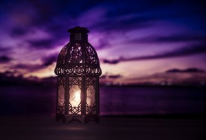 Eid al adha lit up ramadan lamp