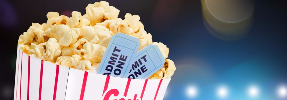Popcorn with two tickets