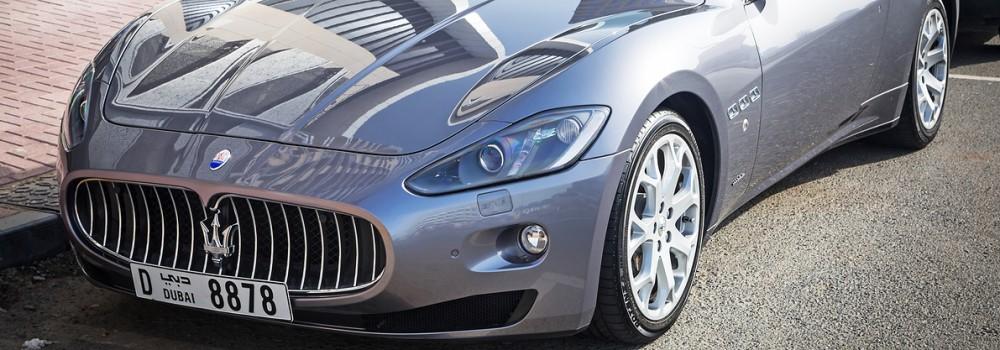 Maserati with UAE number plate