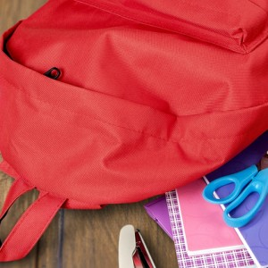 school bag pack with stationery