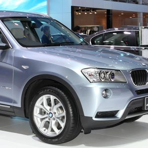SUV BMW in motor show