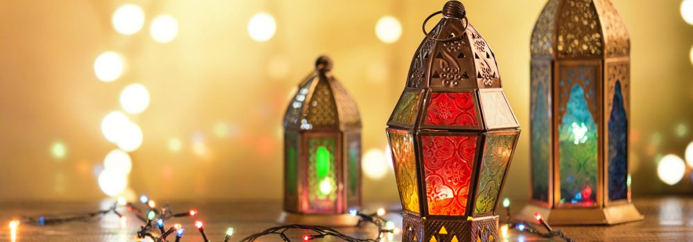 Eid Al Adha lamps rendered