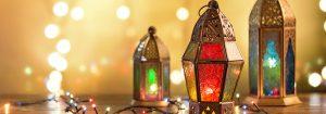Eid Al Adha lamps rendered