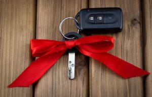 Close-up view of car keys