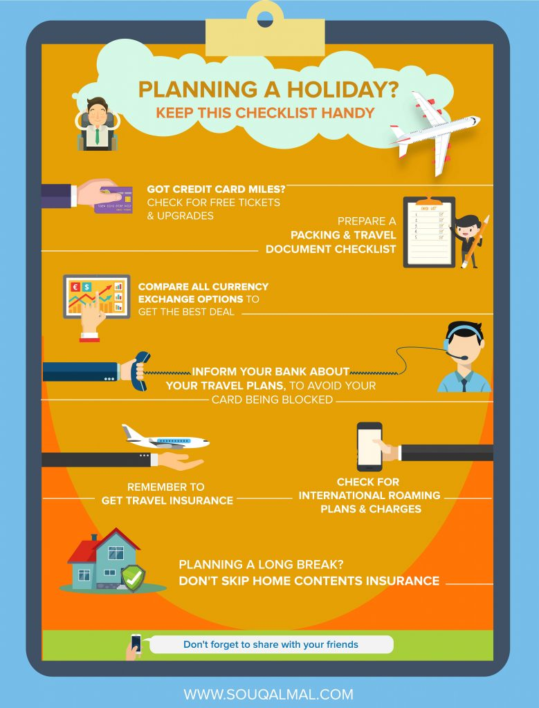 Planning a holiday? Keep this checklist handy
