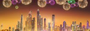 Dubai shopping festival fireworks rendered