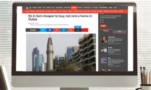 Khaleej Times: It's in fact cheaper to buy, not rent a home in Dubai