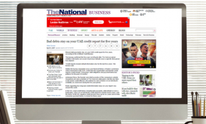 The National: Bad debts stay on your UAE credit report for five years