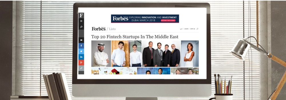 Forbes ME: Souqalmal #2 Among Top 20 Fintech Startups In The ME!