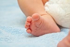 قدم طفل