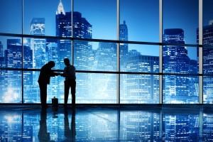 رجال اعمال و منظر البنايات